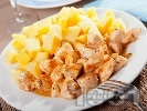 Рецепта Пилешки хапки със сметана на тиган